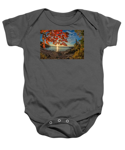 Autumn Bay Near Shovel Point Baby Onesie