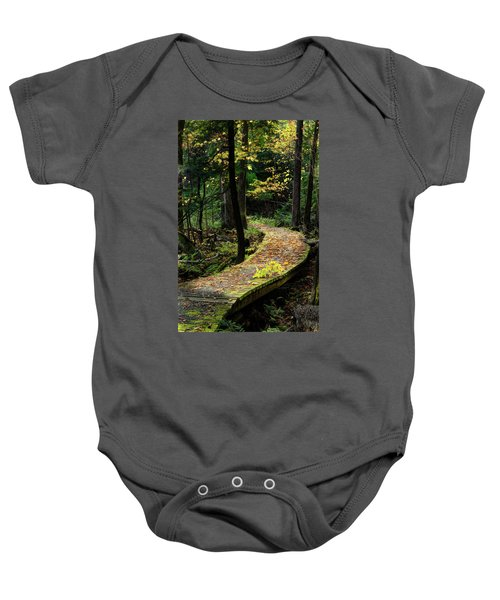 Autumn Boardwalk Baby Onesie