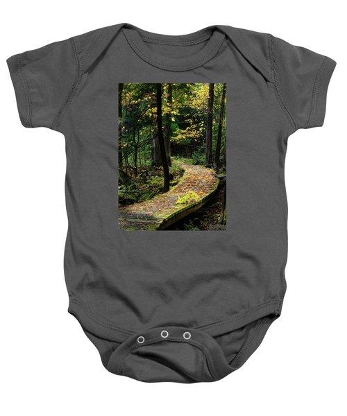 Autumn Boardwalk Baby Onesie