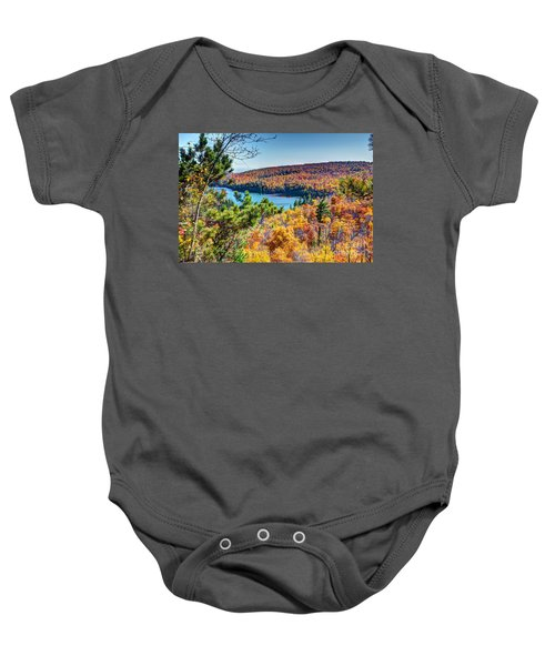 Autumn Colors Overlooking Lax Lake Tettegouche State Park II Baby Onesie