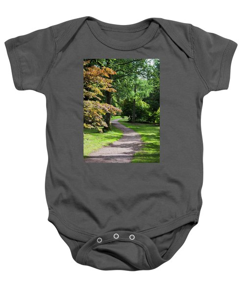 Autumn Forest Path Baby Onesie