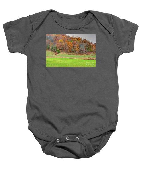Autumn Hillside Baby Onesie