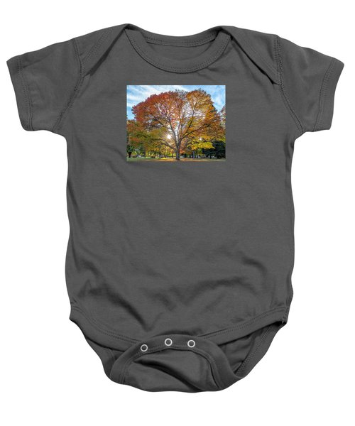Autumn Maple Baby Onesie
