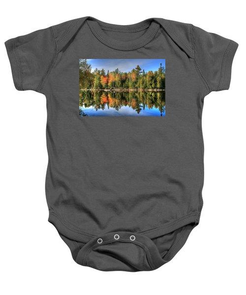 Autumn Reflections Of Maine Baby Onesie