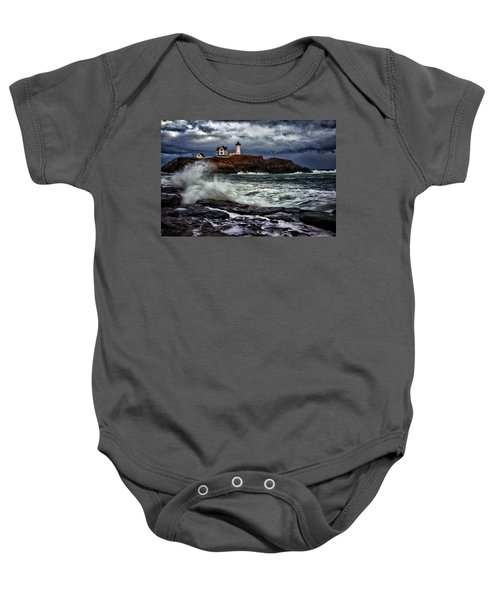 Autumn Storm At Cape Neddick Baby Onesie
