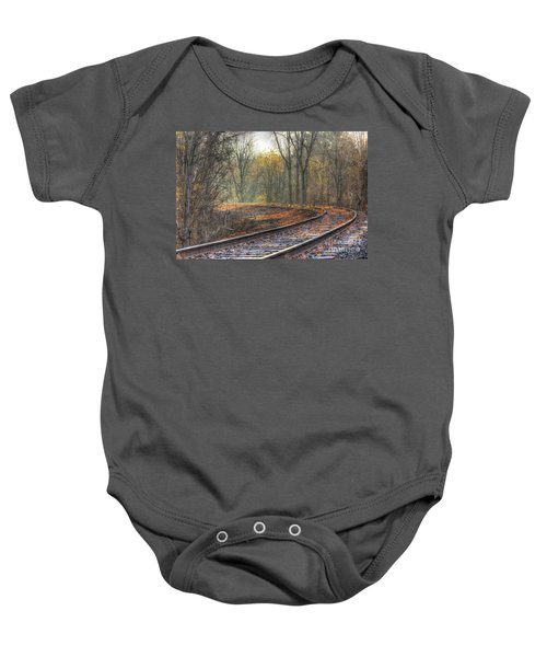 Autumn Tracks Baby Onesie