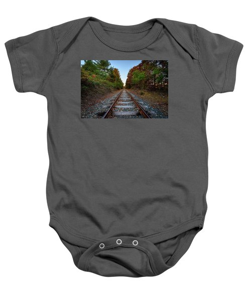 Autumn Train Baby Onesie