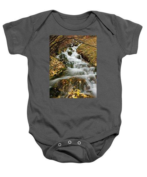 Autumn Waterfall Baby Onesie
