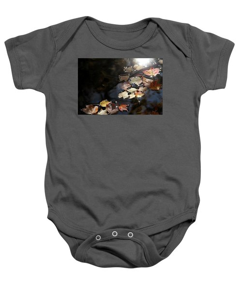 Autumn With Leaves On Water Baby Onesie
