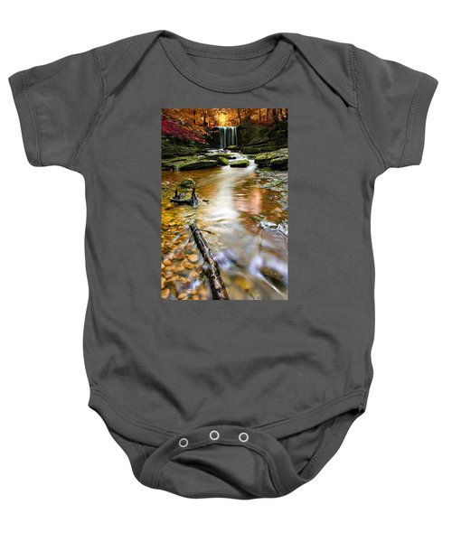 Autumnal Waterfall Baby Onesie