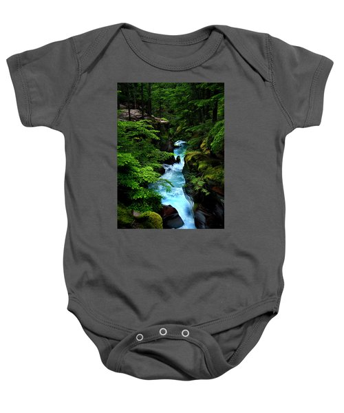Avalanche Creek Waterfalls Baby Onesie