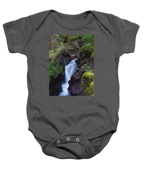 Avalanche Gorge 3 Baby Onesie by Gary Lengyel