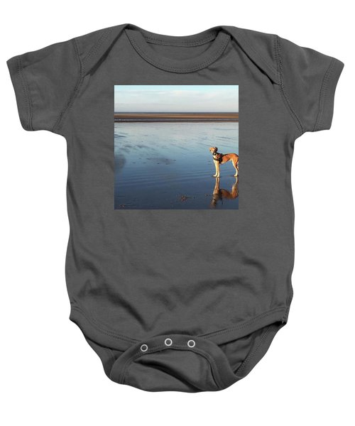 Ava's Last Walk On Brancaster Beach Baby Onesie