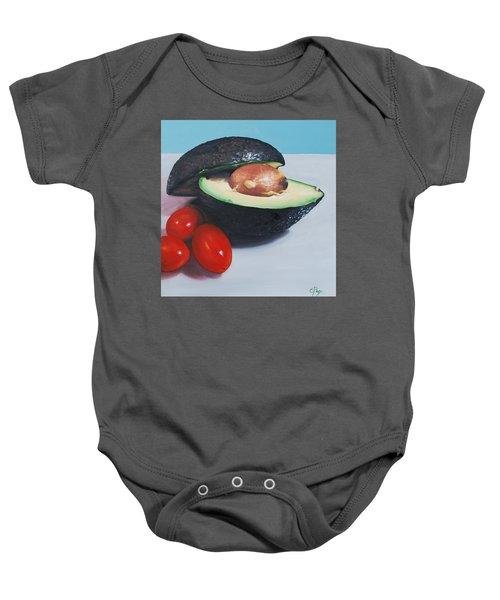 Avocado And Cherry Tomatoes Baby Onesie