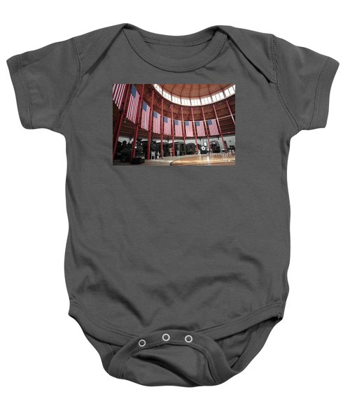 B And O Museum Roundhouse In Baltimore Maryland Baby Onesie