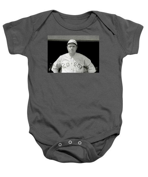Babe Ruth Red Sox Baby Onesie by Jon Neidert