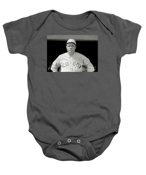 Babe Ruth Red Sox Baby Onesie