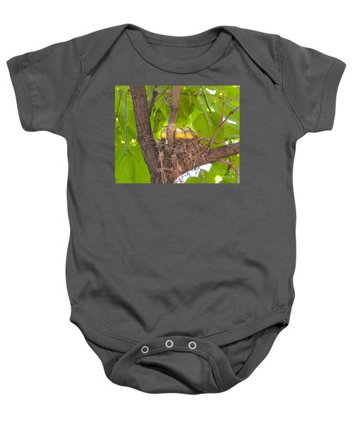 Baby Birds Waiting For Mom Baby Onesie