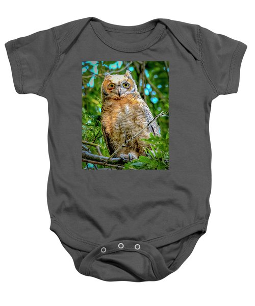 Baby Great Horned Owl Baby Onesie