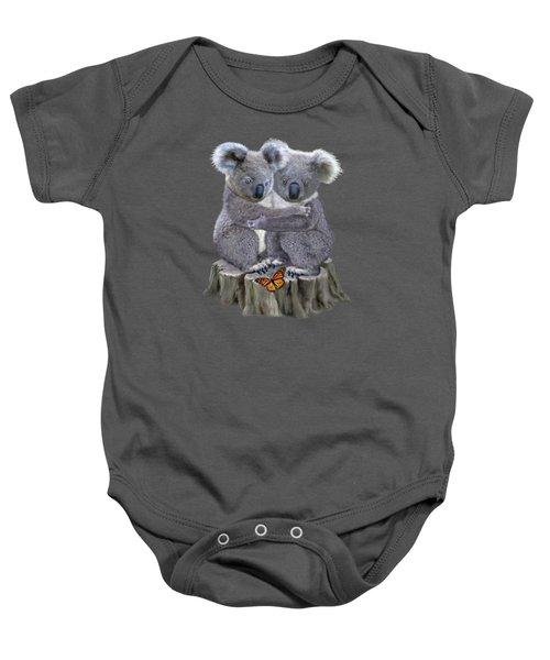 Baby Koala Huggies Baby Onesie by Glenn Holbrook