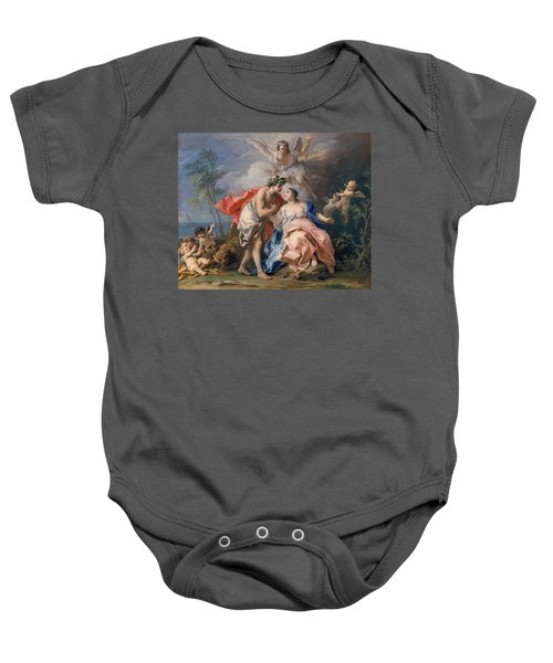Bacchus And Ariadne Baby Onesie by Jacopo Amigoni
