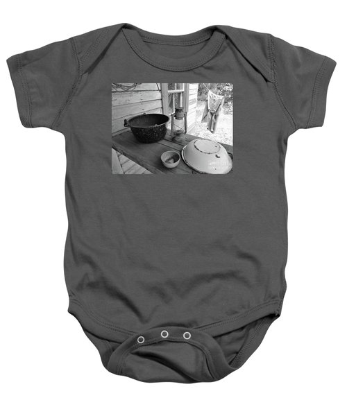 Back In Time B - W Baby Onesie