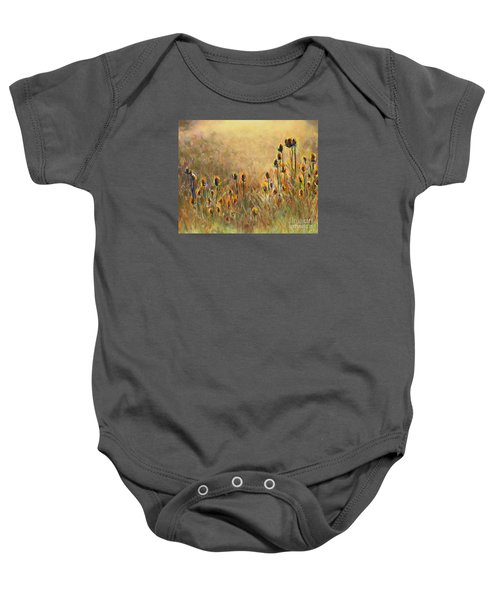 Backlit Thistle Baby Onesie