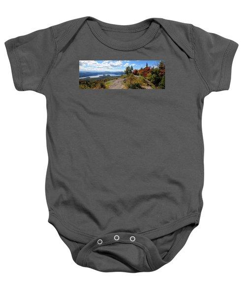 Bald Mountain Autumn Panorama Baby Onesie