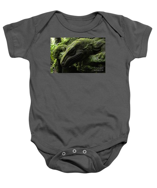 Bali Indonesia Lizard Sculpture Baby Onesie by Bob Christopher