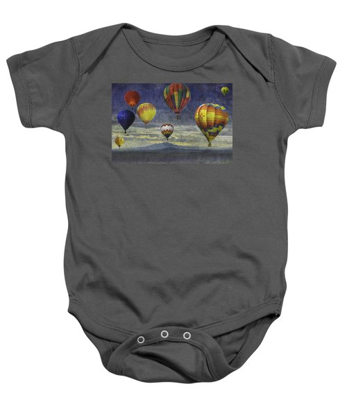 Balloons Over Sister Mountains Baby Onesie