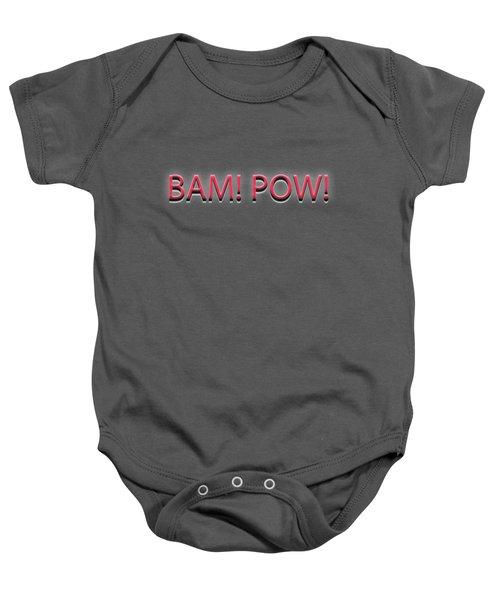 Bam Pow Tee Baby Onesie