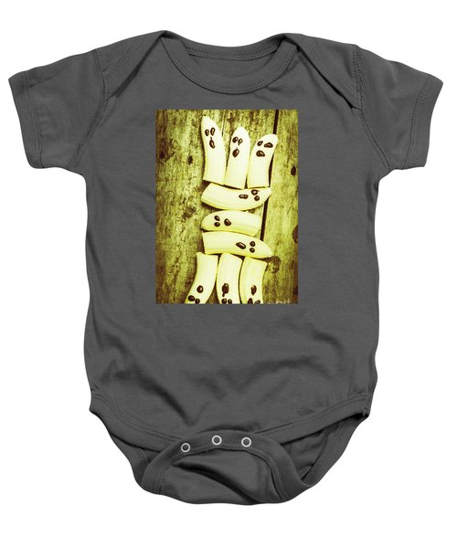Bananas With Painted Chocolate Faces Baby Onesie