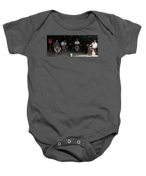 Band With Pink Girl Baby Onesie