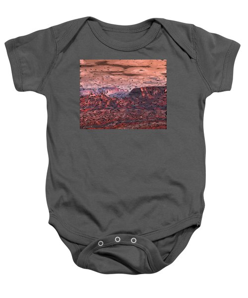 Banded Canyon Abstract Baby Onesie
