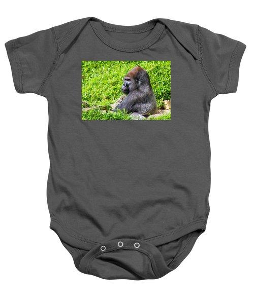 Baraka - Western Lowalnd Silverback Gorilla Baby Onesie
