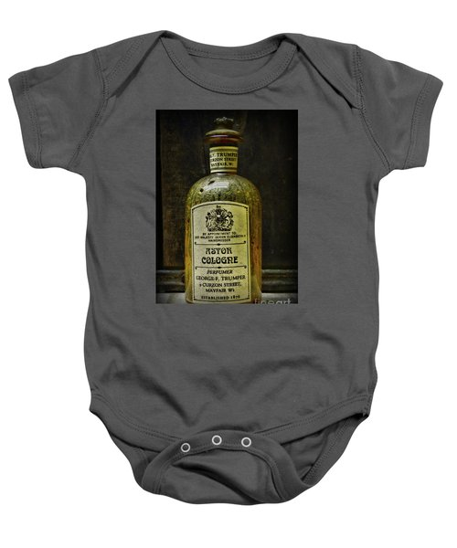 Barber-vintage Cologne Bottle By Royal Appointment  Baby Onesie