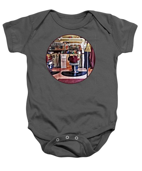 Barbershop With Coat Rack Baby Onesie