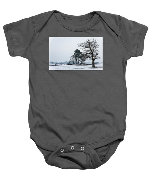 Bare Trees In The Snow Baby Onesie