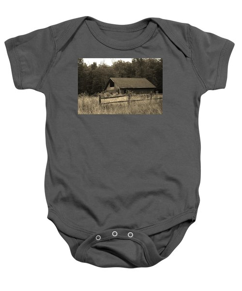 Barn And Fence Baby Onesie
