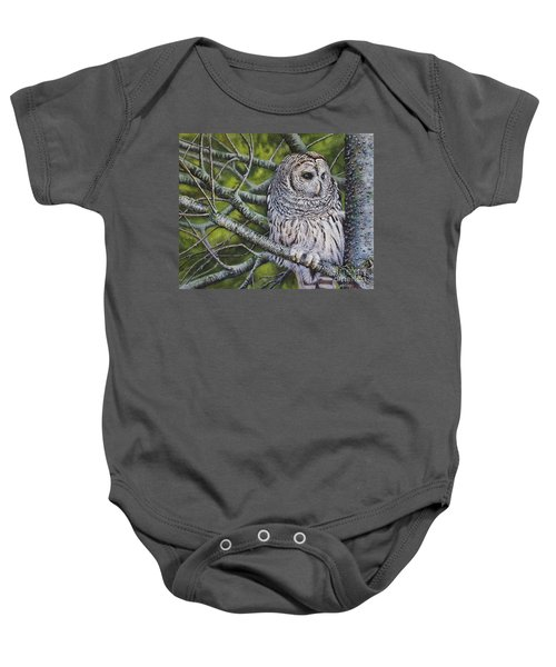 Barred Owl Baby Onesie