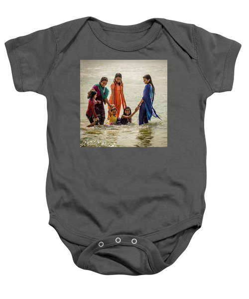 Bathing At Varkala II Baby Onesie