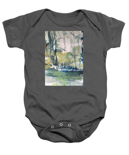 Bayou Blues Abstract Baby Onesie
