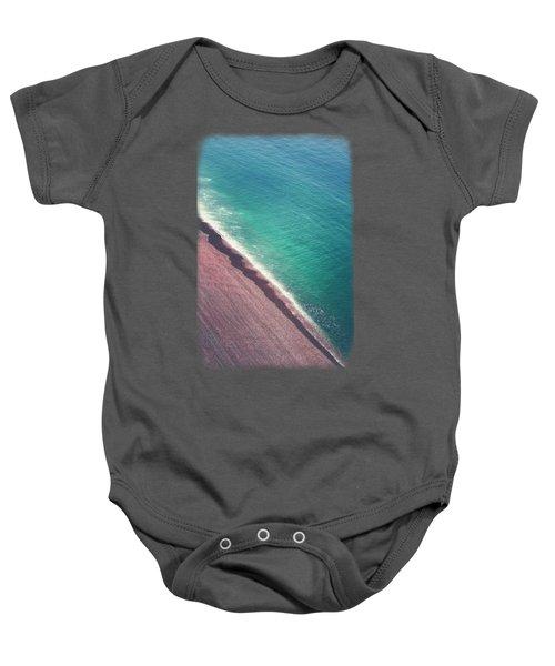 Beach Aerial Baby Onesie