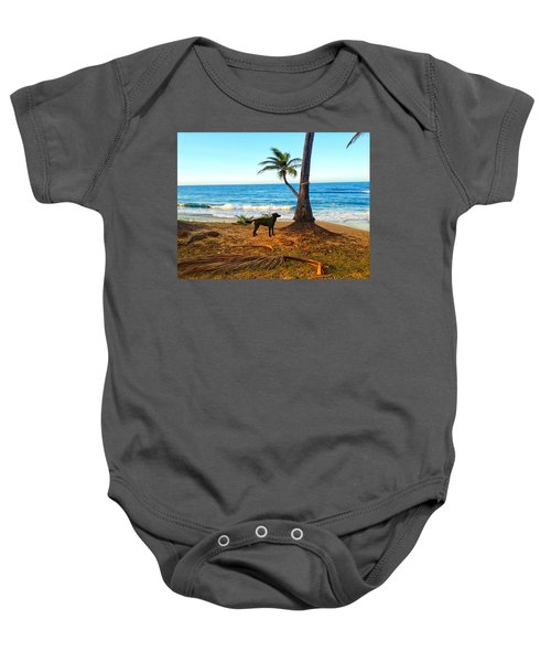 Beach Dog  Baby Onesie