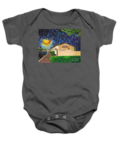 Beachcomber Motel Baby Onesie