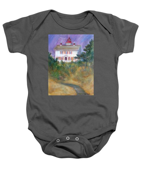 Beacon On The Hill - Lighthouse Painting Baby Onesie