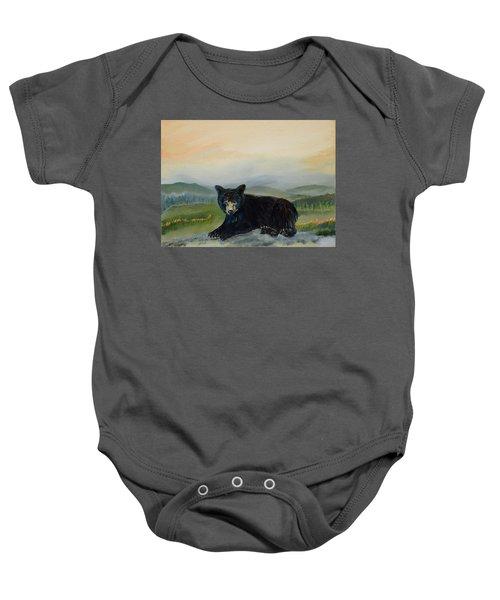 Bear Alone On Blue Ridge Mountain Baby Onesie