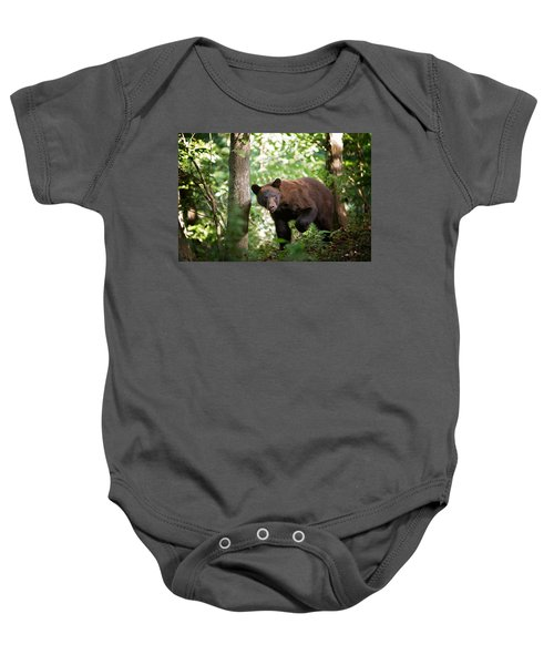 Bear In The Woods Baby Onesie