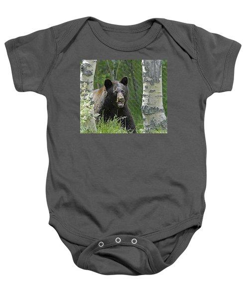 Bear In Yard Baby Onesie
