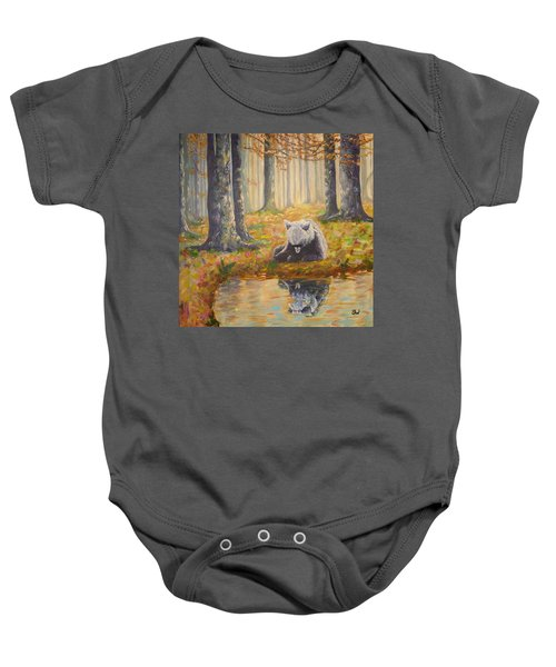 Bear Reflecting Baby Onesie